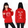 Kpop BTS Bangtan Boys Sweatshirt Tops Plus Size 3XL Women's Clothing Hoodies Sweatshirts Casual BTS Hoodie Cotton Tops C2790