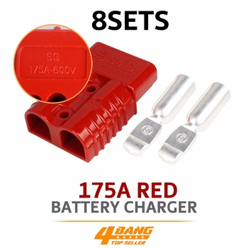 8pcs Red 175A Plug Connector Joints Contact  Dual Copper Terminals Connector kit