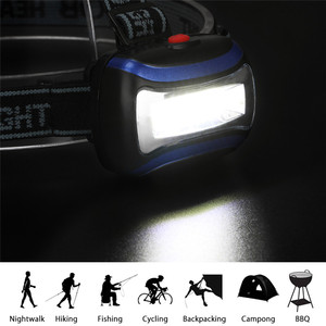 Image 5 - SANYI 3800LM Headlamp Camping Flashlight Head Light Torch Lamp by 3* AAA Battery LED COB Headlamp for Hunting