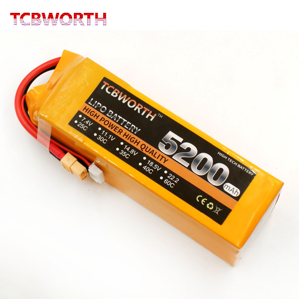 TCBWORTH RC <font><b>LiPo</b></font> Battery <font><b>4S</b></font> 14.8V <font><b>5200mAh</b></font> 30C for RC Airplane Helicopter Quadrotor Rechargeable <font><b>4S</b></font> <font><b>LiPo</b></font> Battery AKKU <font><b>5200mah</b></font> 30C image