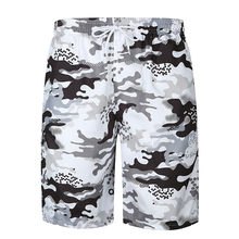 Beach shorts Men multi-pocket swimming trunk summer camouflage drawstring quick-drying shorts Male loose plus size running short(China)