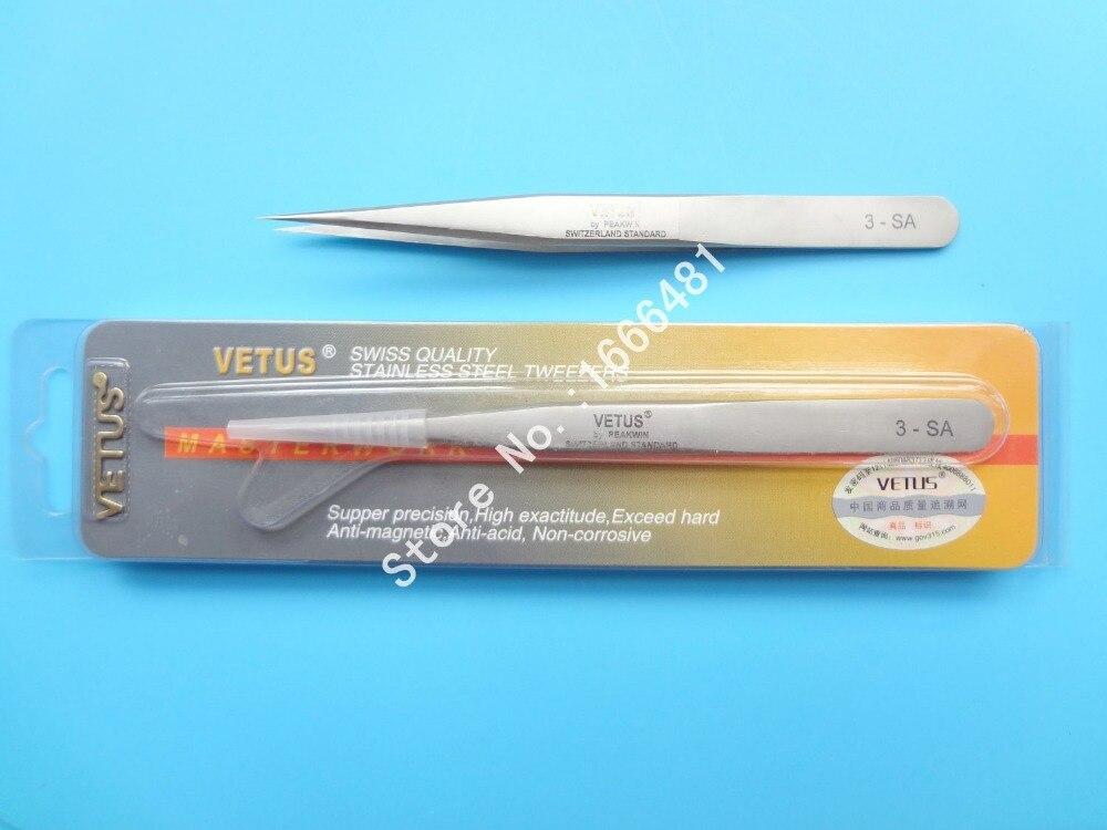 free shipping 10 pcs/lot  VETUS  tweezers stainless steel tweezer free shipping