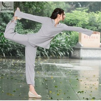 2017 Autumn New Yoga Set Suit Female Dress Meditation Suits Tai Chi Long Sleeved Trousers Two
