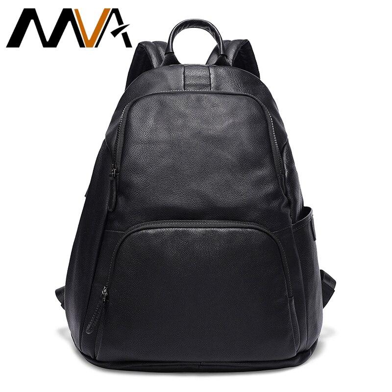 fashion men backpack leather men s travel bag man backpacks for teenager laptop backpack men travel