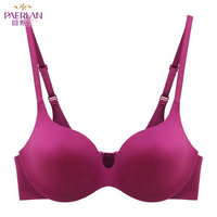 845e35224 PAERLAN 2019 Female Sexy Close After Pure Red Charm Purple Blue Push High  Seamless Bra Young