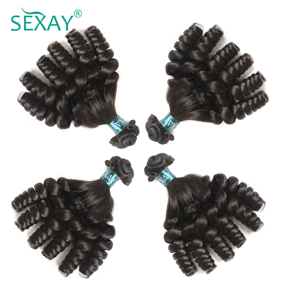 Sexay Brazilian Bouncy Curly Hair Bundles Remy Human Hair Weave 4 Bundles One Pack Hair Extensions Can Be Dyed And Straightened