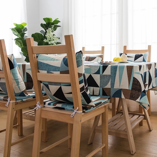 Abstract Printed Cotton Tablecloth