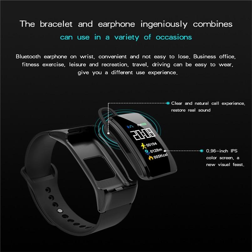 B31 Smart Bracelet Bluetooth Call Bracelet Headset 2 in 1 Smart Watch 0.96 Inch IPS Color AI Voice Intelligence 40AP1003