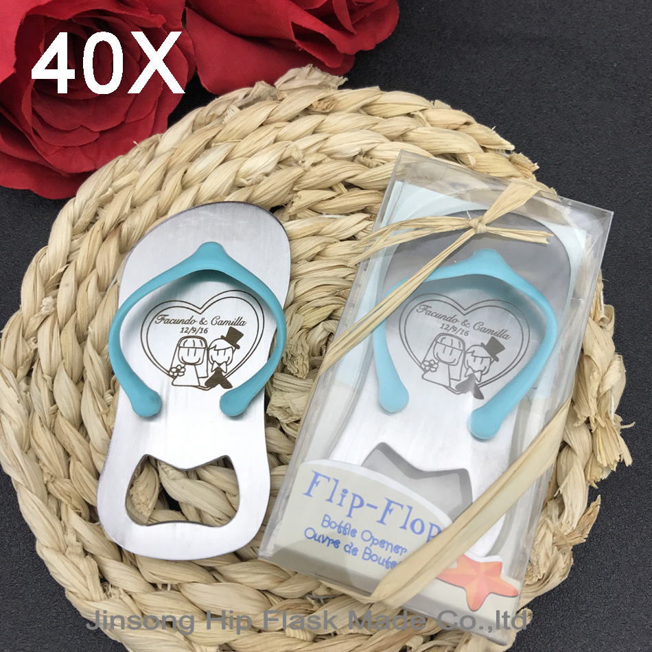 40pcs Personalized engraved Guest gift of wedding favors and gifts Birthday gift JST001