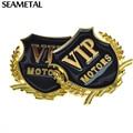 2Pcs 3D VIP Motors Metal Stickers For BMW Audi Opel Vw KIA Toyota Hyundai Peugeot Ford Benz Nissan Mazda Chevrolet Accessories