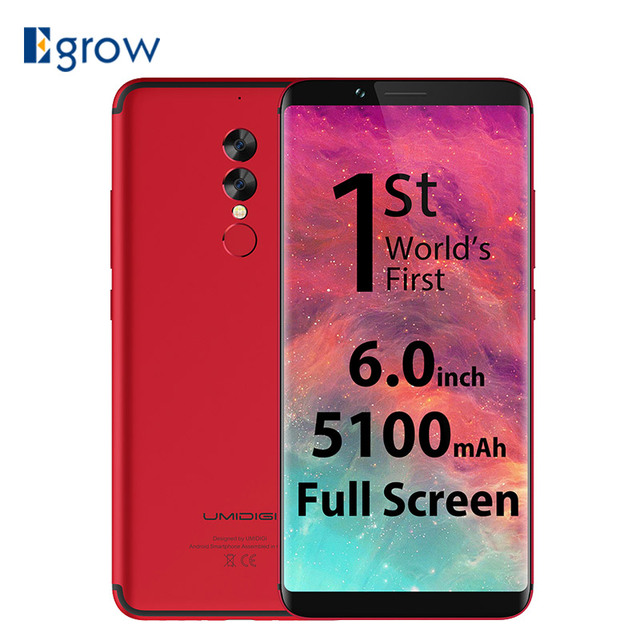 Original UMIDIGI S2 Pro Full Screen 6.0inch Mobile Phone New Helio P25 6GB RAM 128GB ROM Cell Phones 5100Mah 4G LTE Smartphone