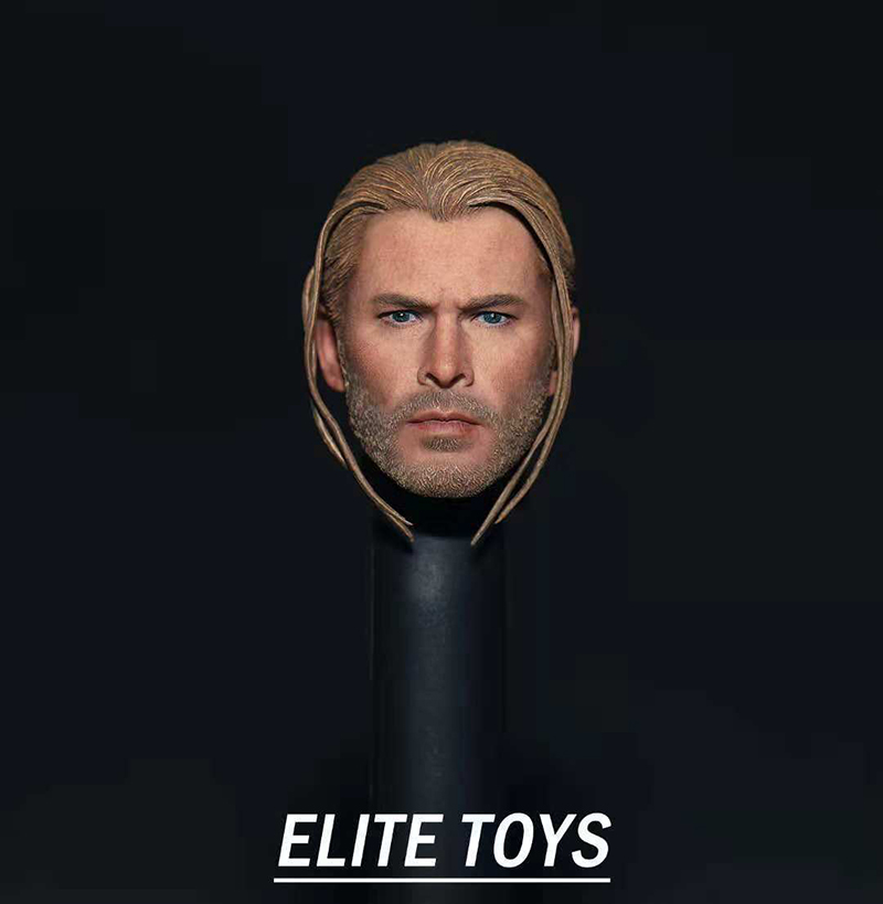 "1/6 Scale Male Head 1/6 The Avengers Thor Braid Head Sculpt Model PVC Head Model Toys Fit 12"" Action Figure Body"
