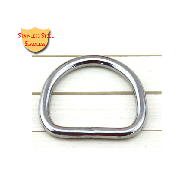 10pcs Pack Stainless Steel D Ring Buckle For Cosmetic Purse Doggie Bag Handbag Horse Rug Harness