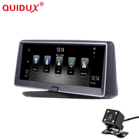 QUIDUX Car DVR Mirror Dash cam 8 4G Car GPS Dvr Camera Android 5.1 ROM16GB RAM1GB Video Recorder car navigation radio