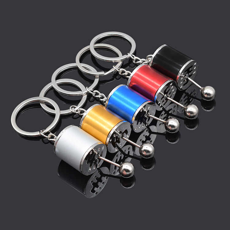 2019 New Hot Car Keychain Six Speed Removable Transmission Gear Shift Gear Shift Knob Gearbox Keyring Men Keyring