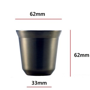 Image 5 - Espresso Mugs 80ml 160ml Set of 2 ,Stainless Steel Espresso Cups Set, Insulated Tea Coffee Mugs Double Wall Cups Dishwasher Safe