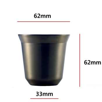 Espresso Mugs 80ml 160ml Set of 2 ,Stainless Steel Espresso Cups Set, Insulated Tea Coffee Mugs Double Wall Cups Dishwasher Safe