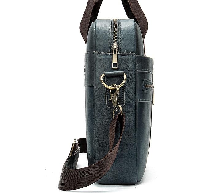 Retro Men Business Genuine Leather Briefcases Male Shoulder Crossbody Laptop Cowhide Messenger Bags Travel Handbags D247