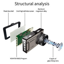 Novatek 96655 Car DVR Camera Full HD 1080P Dash Camera 30Fps