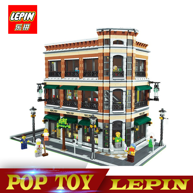 DHL Lepin 15017 4616Pcs Creator Expert Starbucks Cafe Bookstore Model Building Kits Birthday Toy Compatible With