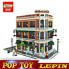 New Lepin 15017 4616Pcs Creator Expert Starbucks Cafe Bookstore Model Building Kits Birthday Toy Compatible With