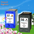 Free Shipping for hp c6656a  Ink Cartridge Compatible Printer and For HP 56 57 C6657A D1368 D1468 D2360 D2368 3538 3558 3658