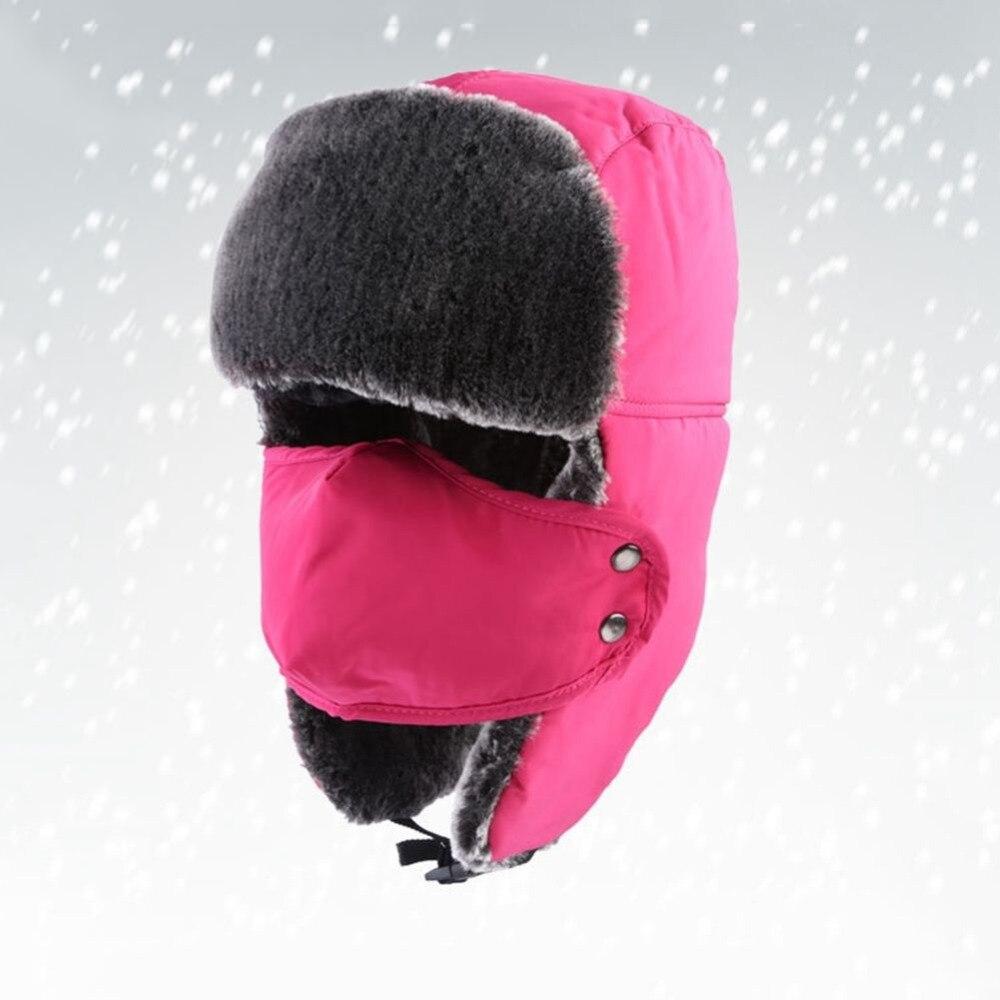 Unisex Mens Womens Winter Trapper Trooper Earflap Warm Russian Hat Mask