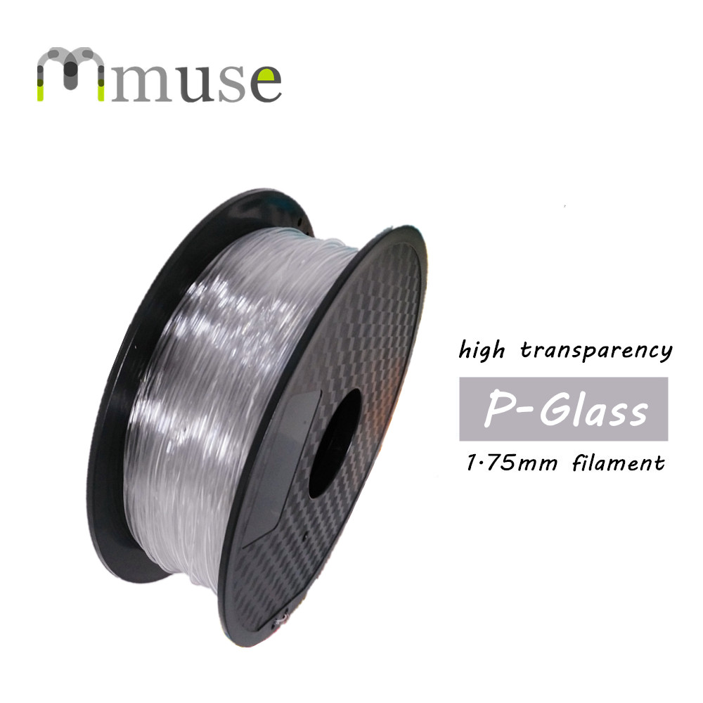 1kg 1.75mm 3mm High Transparency P-Glass Filament, PC & PETG Composite 3D Printer Filament high quality wood lubricious 3d printer filament 1 75mm 3mm 1kg wholesale price by dhl and fedex ie free shipping