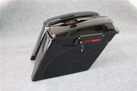 5 Vivid Black Stretched Extended Hard Saddlebag W/Key For Harley Touring FL 93 13 Electra Glide Road King FLH FLT 93 13