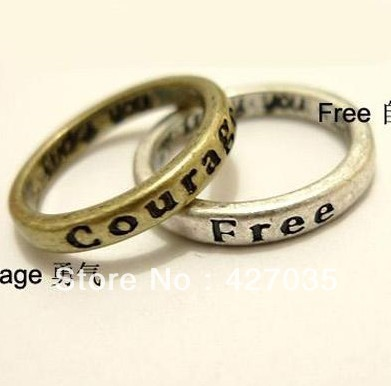 Fashion vintage  brief fashion lettering promise ring female letter set of ring