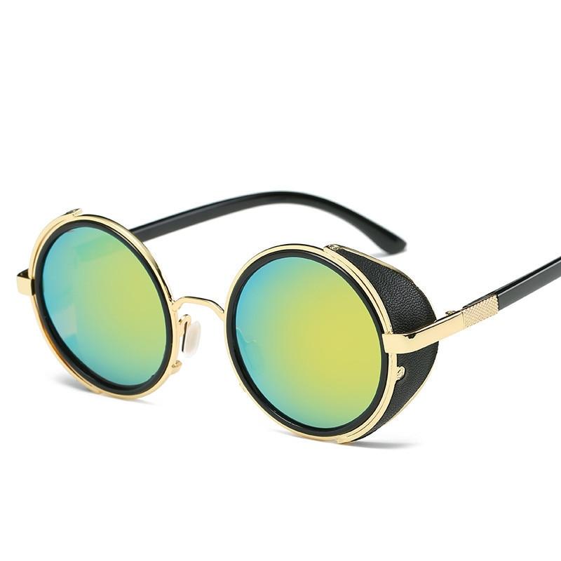 LONSY Steampunk Sunglasses Wanita Putaran Kacamata Kacamata Baru Pria - Aksesori pakaian - Foto 2