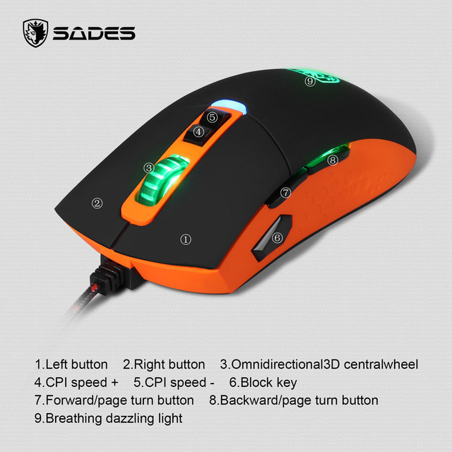 8 Buttons 2500 DPI Wired Gaming Mouse