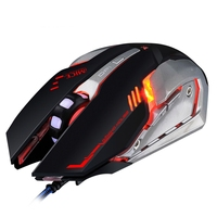 imice V8 Professional Wired Gaming Mouse USB Optical Computer Mouse 6 Buttons Standard Edition Multi Color Breathing Backlight
