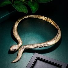Necklace Snake Choker Women Goth Aesthetic Statement чокер Animal Party Jewelry Collier Femme Kpop Fashion Mujer Collares Gift