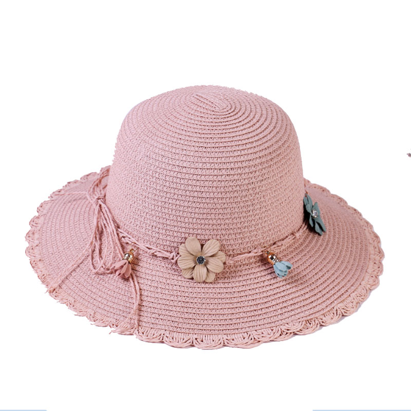 MATTYDOLIE Straw Hat Lady Flowers Wide brimmed Foldable sun Hat Summer Hat Outdoor Vacation Sunscreen Beach Hat in Women 39 s Sun Hats from Apparel Accessories