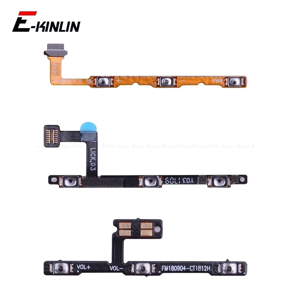 Switch Power ON OFF Key Mute Silent Volume Button Ribbon Flex Cable For MeiZu 16 X8 Note 8 U20 U10 Pro 7 6 Plus Repair Parts