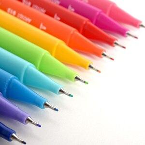Image 3 - KACO, bolígrafos de acuarela de doble punta, pincel no tóxico y bolígrafo de escritura para dibujar, juego de regalo, 100 colores con bolso