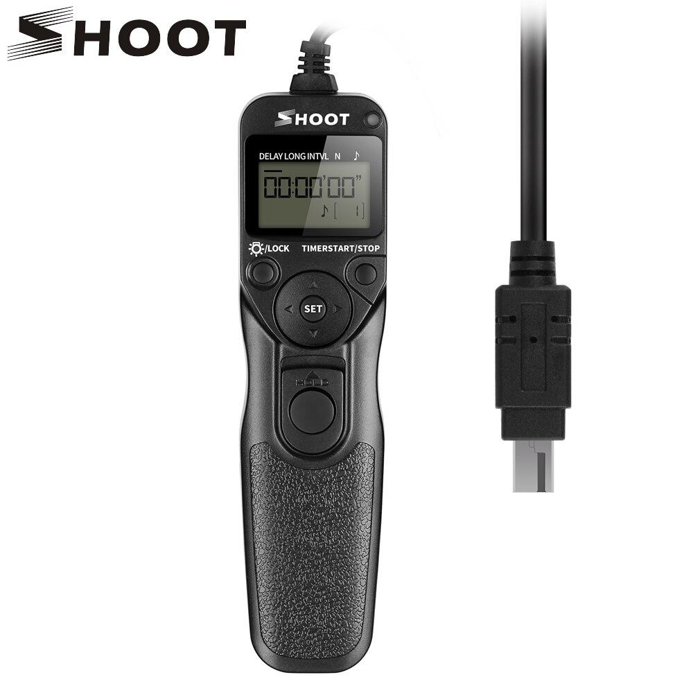 SHOOT MC-DC2 Timer Remote Control Shutter Release for Nikon D90 D3100 D3200 D5000 D5100 D5200 D7000 7100 D750 Digital SLR Camera