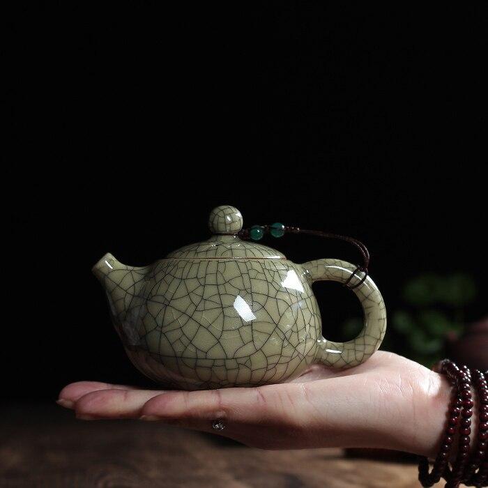Tea set Crackle Glaze Ge Kiln Longquan Celadon Zisha Ceramics Arts Tay Thi China Teapot Porcelain
