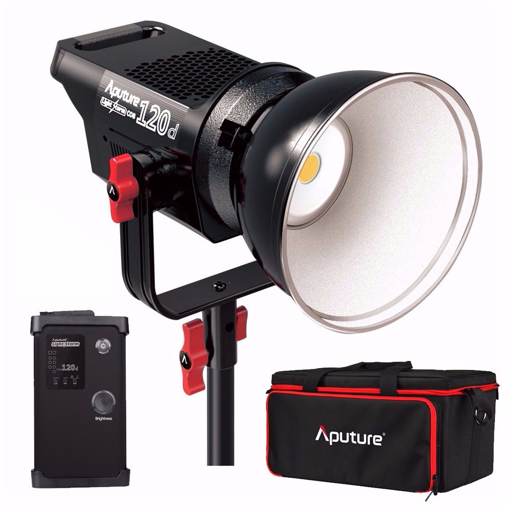 Aputure Light Storm COB 120d Kit 6000K 135W Bowens Mount LED Continuous Video Light with 2.4G Remote Control and V-Mount Plate