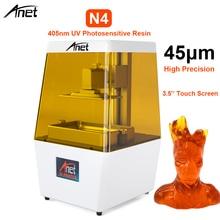 цена на New 3.5'' LCD Touch Screen Anet N4 405nm UV 2K LCD DLP 3D Printer Photocuring Resin Printer 3D DIY Supper High precision