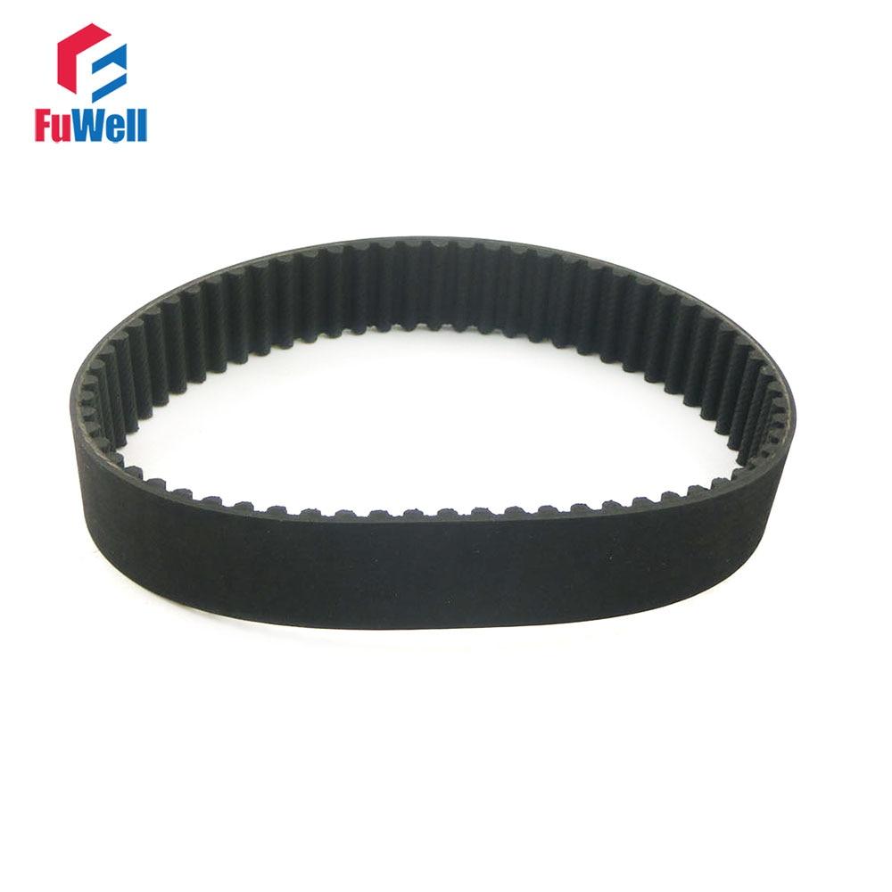 HTD5M 615/625/630/635/640/645/650/655/670/690/695-5M Timing Pulley Belt 15/20/25mm Width 5mm Pitch Black Rubber Belt