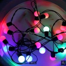 110 В 220 в праздничный светодиодный шар Гирлянда освещение 10 м 100 пузырьковая лампа для наружного и внутреннего освещения светодиодный струнный свет для украшения