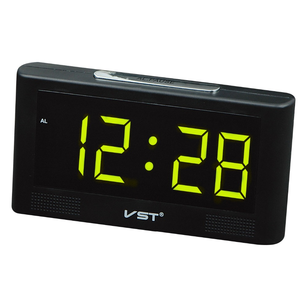 Dashing Big Numbers Led Electric Alarm Clock With Eu Plug Eurpe Decor Desktop Led Digital Clock Bedside Plugin Led Glowing Snooze Clock Traveling Home Decor