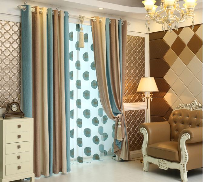 Elegant Fashion Vertical Stripe Blackout Window Curtains For Living Room Bedroom Drapes Cotinas Para Sala Valances