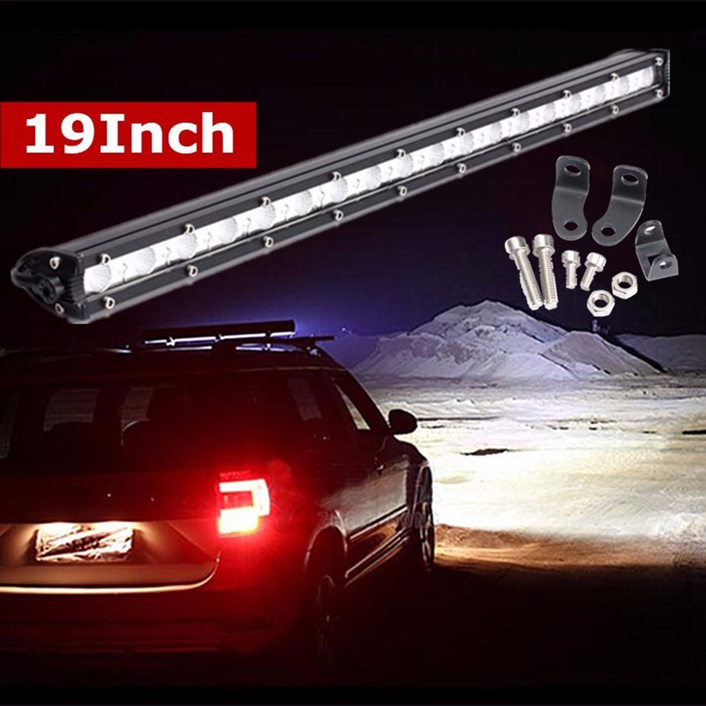 19 Inch 54W Super Bright LED Ultra Thin Work Light Bar Waterproof Spot Flood Combo Light For Off-Road Driving SUV