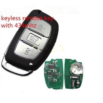 Wilongda 3 Button auto key keyless remote key with 434mhz with PCF7952 chip For New Hyundai ELANTRA smart car key
