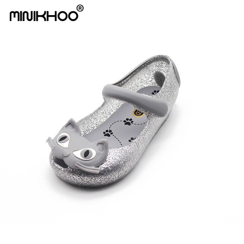 Mini Melissa Brand Cats Girls Sandals BABY Sandals Children Water Shoes Girls Beach Sandals Baby Shoes Girl Sandals High Quality