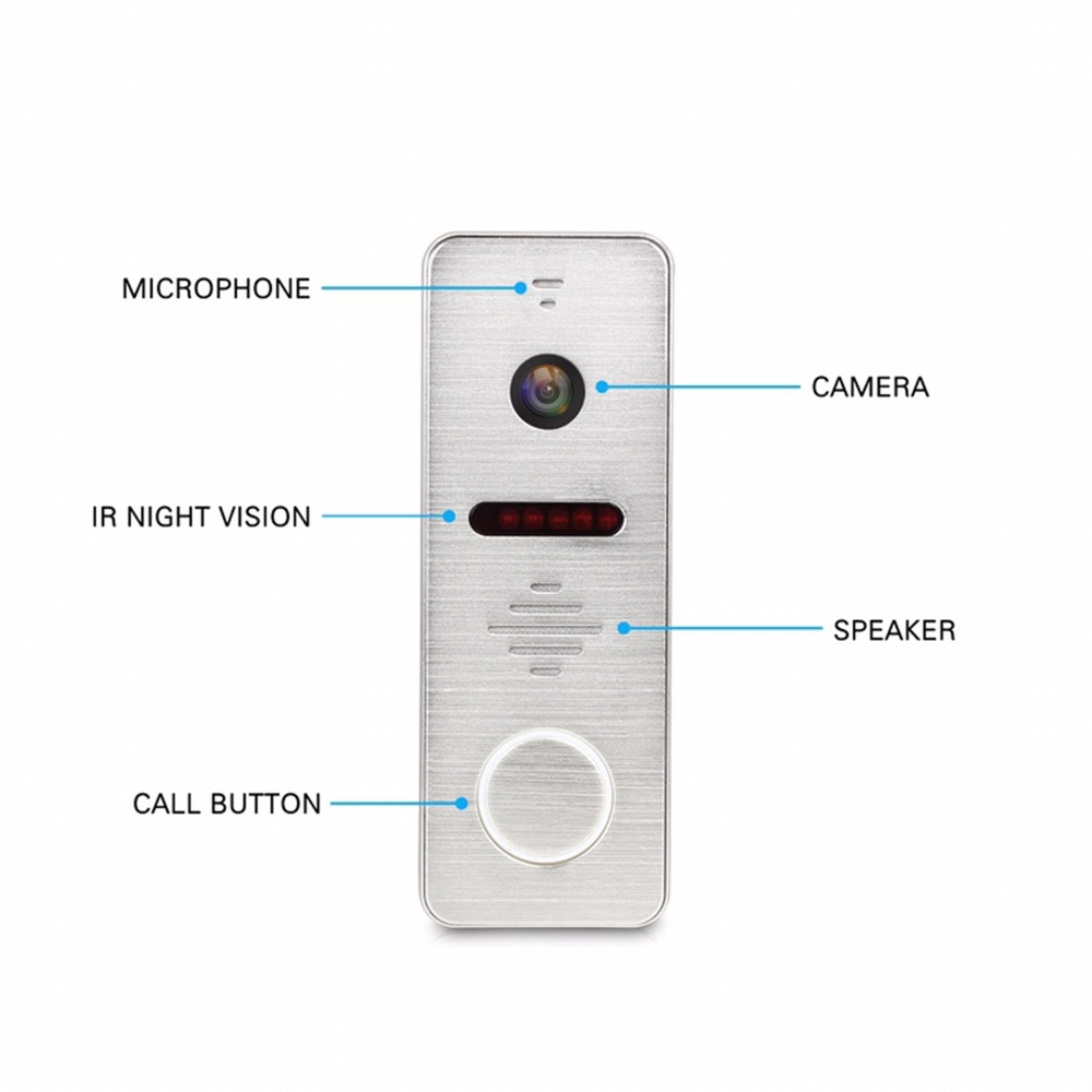Dragonsview 7 inch Video Door Phone Intercom System Record Motion Detection Wide Angle Doorbell with Camera Waterproof Cover - 5