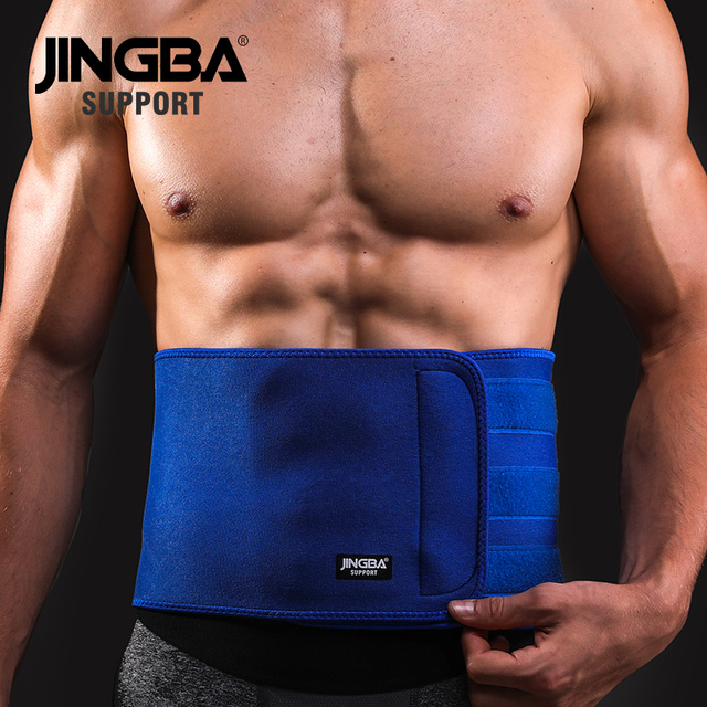 JINGBA SUPPORT Slim fit Abdominal Waist sweat belt Sports Waist trimmer Support Safety Back Support Lumbar Band Protective 1